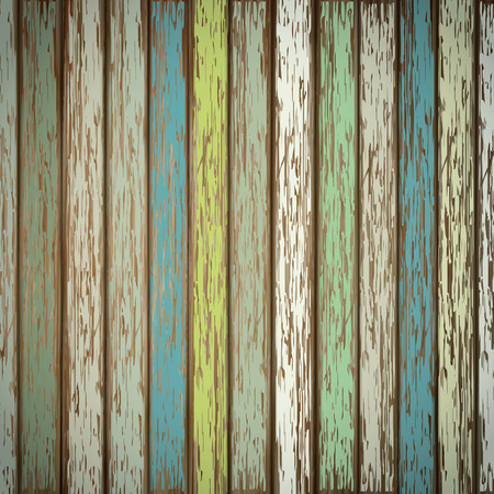 plywood: close-up look at retro colorful wooden texture background Illustration