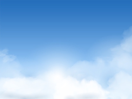blue sky with clouds background in great weather