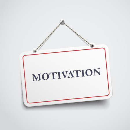 readiness: motivation hanging sign isolated on white wall Illustration