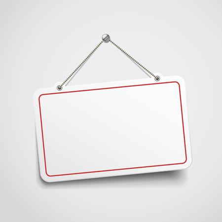 merken: leere hängenden Zeichen Illustration