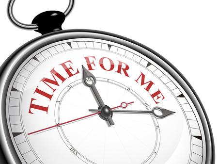 tempo per me il concetto orologio isolato su sfondo bianco