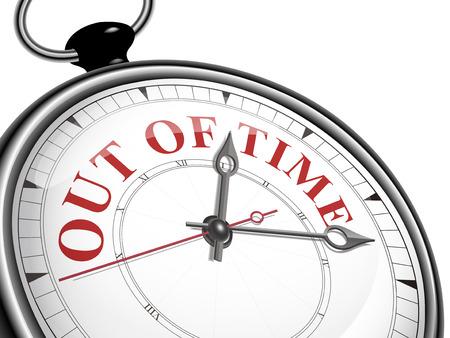 no pase: fuera del concepto de reloj de tiempo aislado en fondo blanco
