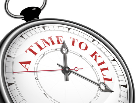 a time to kill concept clock isolated on white background Illustration