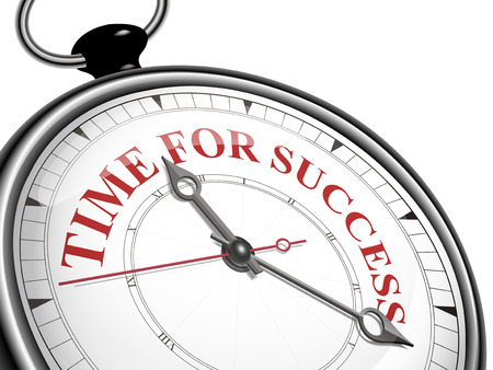 time for success concept clock isolated on white background Vector