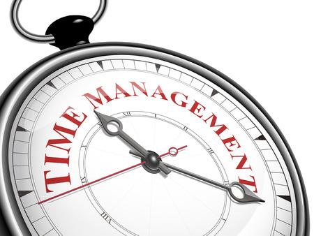 時計白い背景で隔離管理概念を時間します。