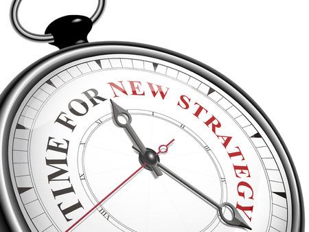 白い背景に分離された新しい戦略概念の時計の時刻  イラスト・ベクター素材