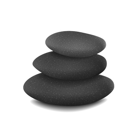 stones in balanced pile isolated over white background