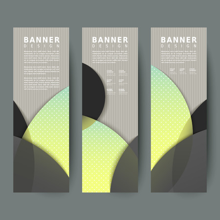modern banners design set with circle elements