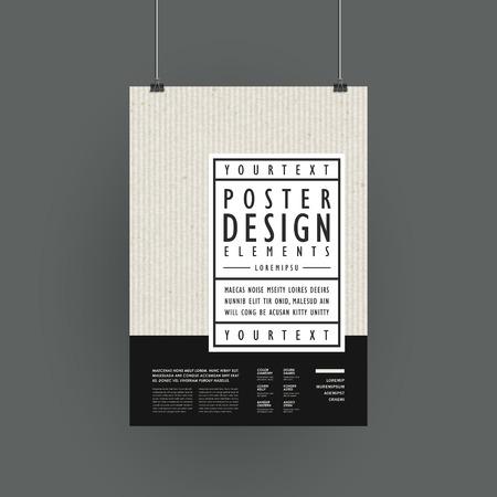 シンプル スタイルでモダンなポスター テンプレート デザイン  イラスト・ベクター素材
