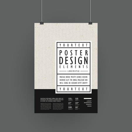 modern poster template design in simplicity style Ilustrace