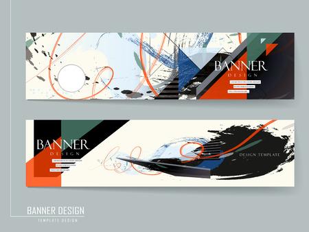 stijlvolle banner brochure ontwerp over blauwe achtergrond