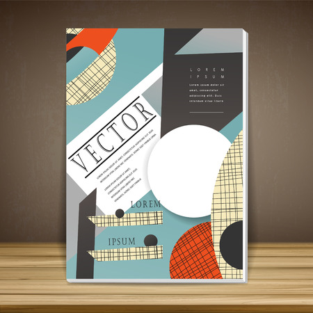 modern book cover design in collage style Illustration