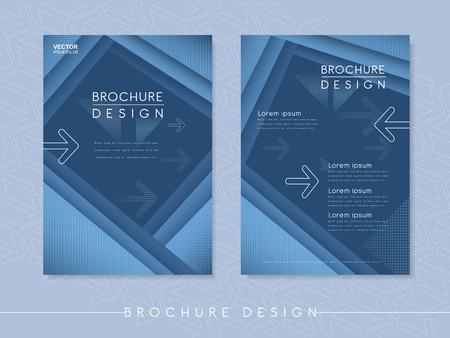 modern poster template design with streak element in blue Illustration