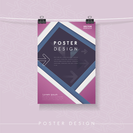 Modern Poster modern poster template set design in blue royalty free cliparts