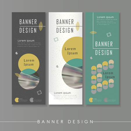 modern abstract banner template design with circle elements Illustration