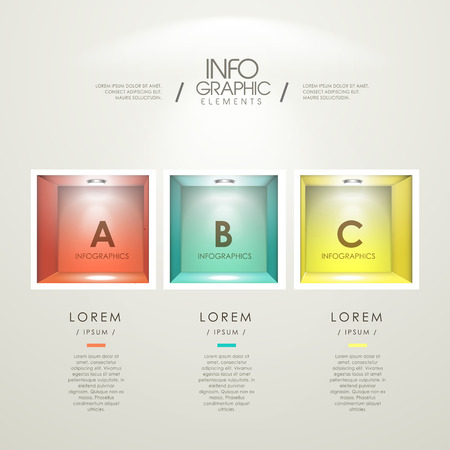 niches: modern infographic template design with colorful empty niches
