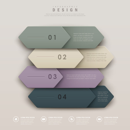elegant infographic template design with a set of leather labels Vector