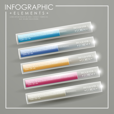 modern infographic template design with translucent chart elements