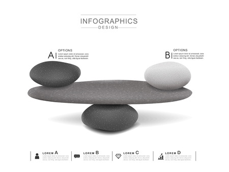 mental concept infographic template design with stone tower