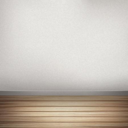 나무 바닥과 빈 인테리어 벽에서 근접 봐