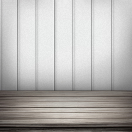 closeup: Close-up Blick auf leeren Innenraum h�lzerne Wand und Boden
