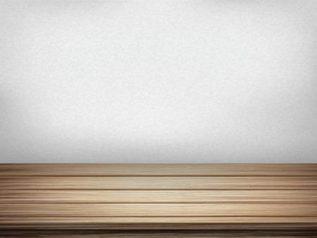 closeup: Close-up Blick auf leere Innenwand mit Holztisch