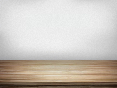 closeup: close-up look at empty interior wall with wooden table