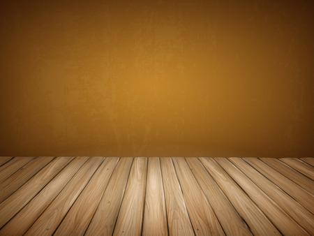 wooden floor: close-up look at empty interior wall with wooden floor