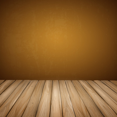 closeup: close-up look at empty interior wall with wooden floor