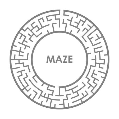 laberinto: ilustraci�n de laberinto ronda aislado sobre fondo blanco