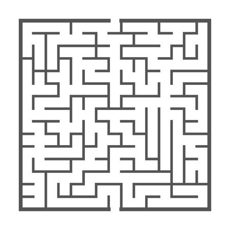 白い背景で隔離の迷路ゲーム イラスト