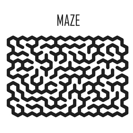 deadlock: maze game illustration isolated over white background