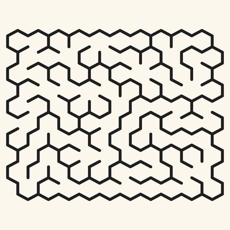 deadlock: maze game illustration isolated over beige background