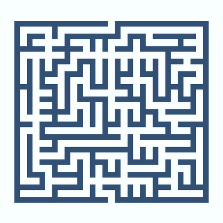 leading the way: maze game illustration isolated on white background