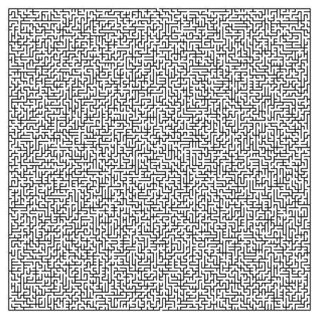 hopeless: maze game illustration isolated on white background