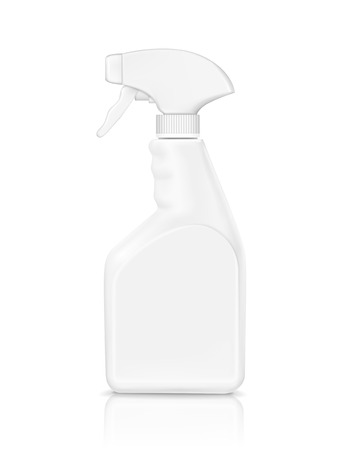 cleanser: blank bottle spray detergent isolated on white background