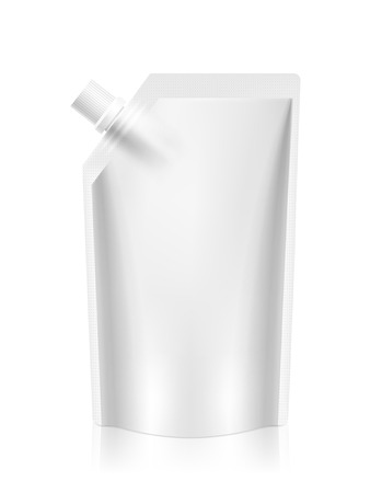 blank foil food or drink packaging isolated on white Çizim