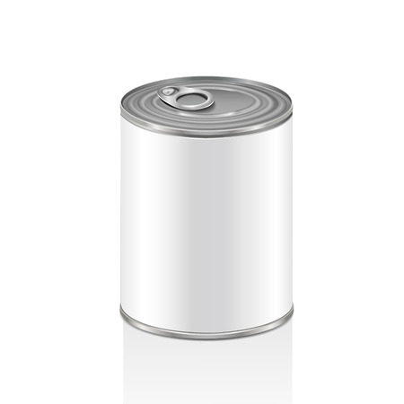 blank aluminum can isolated over white background