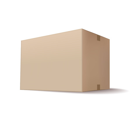 closed cardboard box isolated on white background Vector