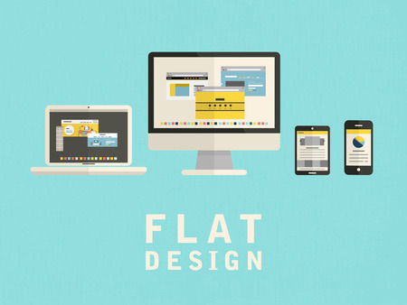 illustration of user interface design in flat style 일러스트