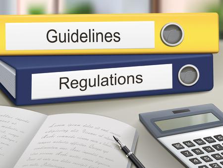remission: linee guida e regolamenti leganti isolato sul tavolo ufficio