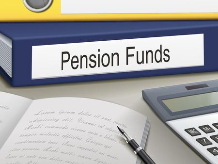 pensioen: pensioenfondsen bindmiddelen die op het kantoor tafel