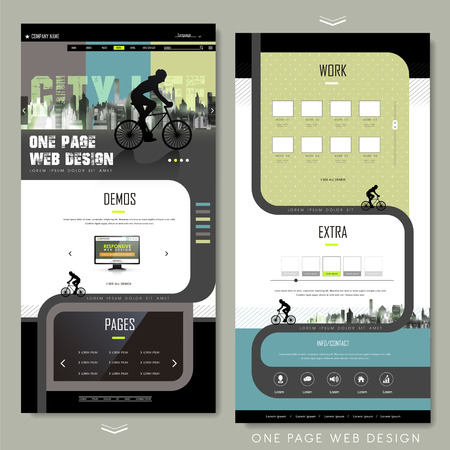 web design template: modern bicycle sport one page website design template
