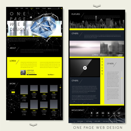 sparkling: fashionable one page website design template with sparkling diamond