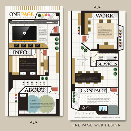accommodate: interior design concept one page website template
