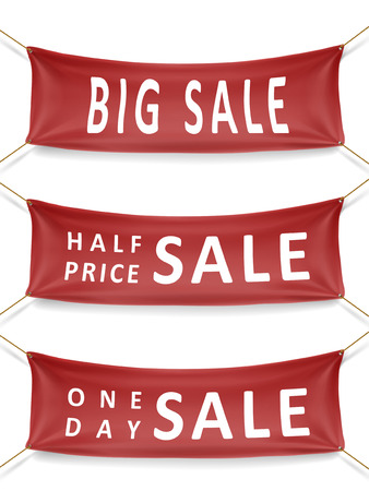 sale series banners isolated over white background