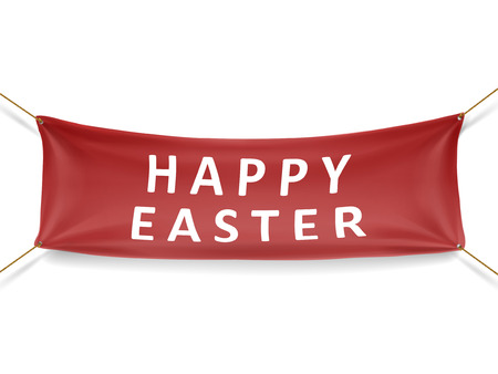 happy easter banner isolated over white background Фото со стока - 35976886