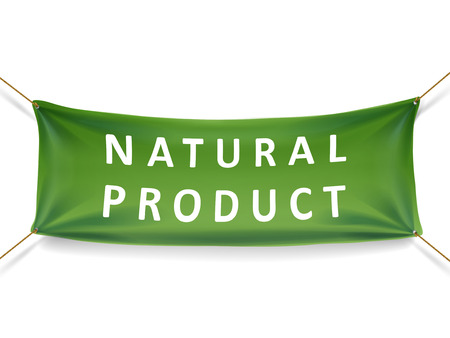 natural product banner isolated over white background Иллюстрация