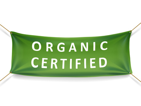 certified: organic certified banner isolated over white background