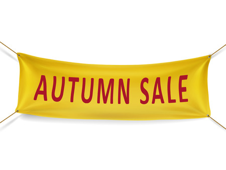 autumn sale banner isolated over white background Фото со стока - 35977007